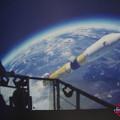 Photos: H-?Bロケットの打ち上げを見下ろす