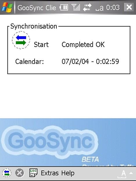 写真: GooSync 同期成功