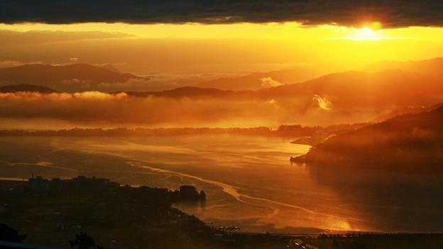 プチ雲海 日の出