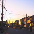 夕焼けの住宅街@近所