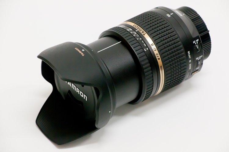 TAMRON SP AF17-50mm F/2.8 XR Di II VC LD Aspherical [IF] (Model B005NII) フード装着鏡筒最長