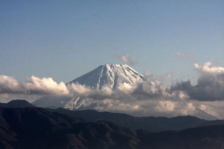 2012.11.28 中央高速 双葉SA 富士山