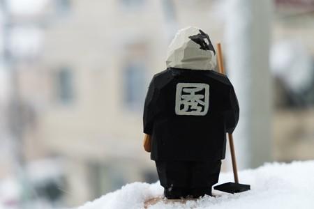 2013.01.14 居間 雪の成人式