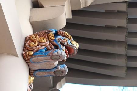 20113.01.19 湯島天満宮 夫婦坂参門 木鼻