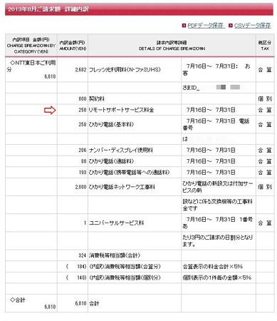 NTT 8月 請求