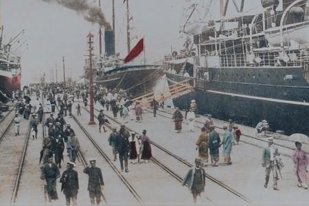 2013.09.07 日本大通 昔の横浜港
