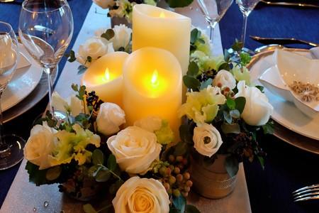 2013.11.21 山手 エリスマン邸 テーブルの灯り 本物に見えて