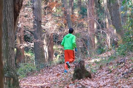 2013.12.15 追分市民の森 ランナー