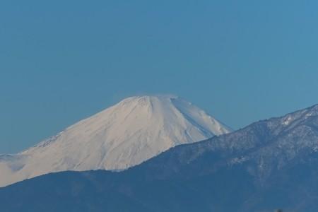2013.12.21 駅前 富士山