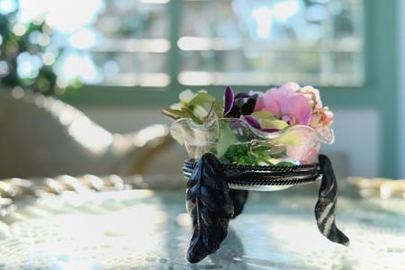 2014.01.29 山手 ブラフ18番館 テーブルの生花