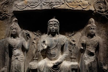 2014.02.07 東京国立博物館 如来三尊仏龕 中国陝西省西安宝慶寺 TC-770