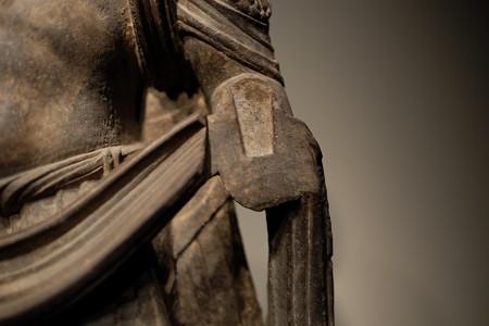 2014.02.07 東京国立博物館 菩薩立像 左腕 パキスタン・ガンダーラ