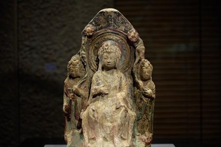 2014.02.07 東京国立博物館 弥勒菩薩三尊像 中国・西安 TC-486