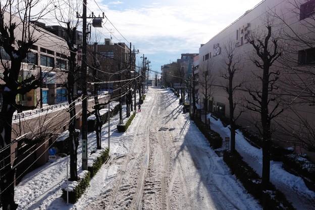 2014.02.09 駅前 雪の朝