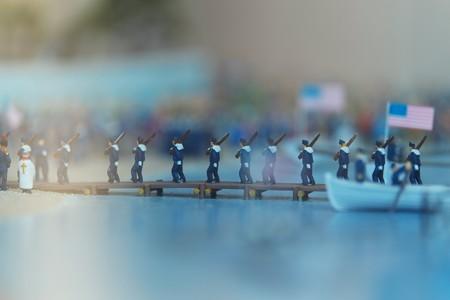 2014.02.21 みなとみらい 横浜人形の家 黒船来航ジオラマ
