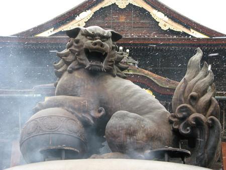 2008.02.05 善光寺 大香炉の狛犬