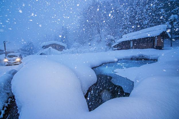 写真: 合掌村的冬雪
