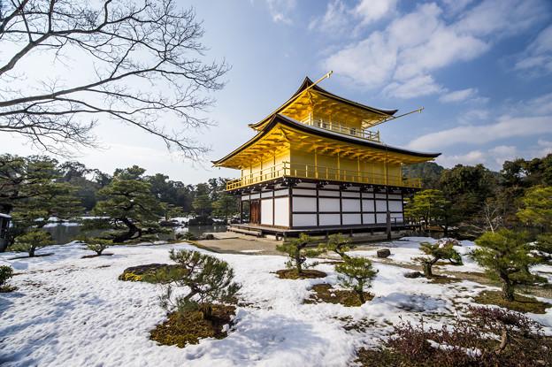 金閣寺冬雪