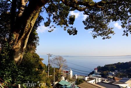 相模灘を望む風景・・伊豆山神社~1