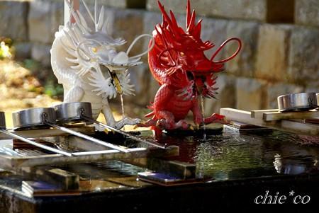 赤龍と白龍・・伊豆山神社