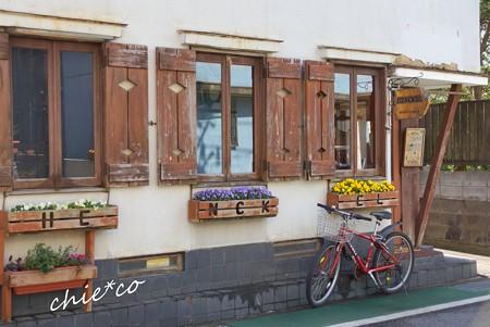 自転車の停まる店・・