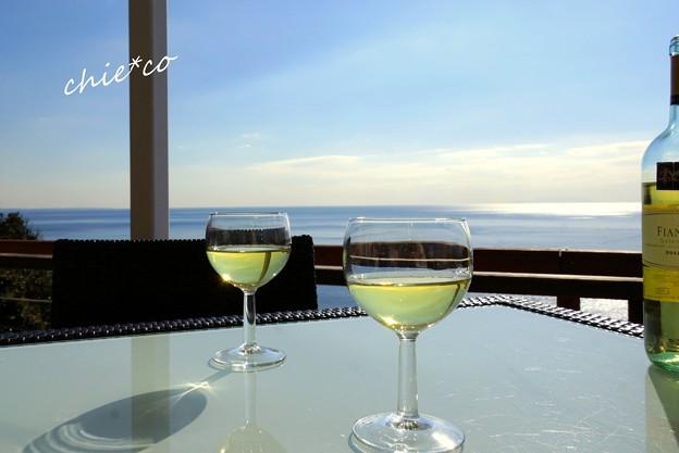 海辺のテーブル・・