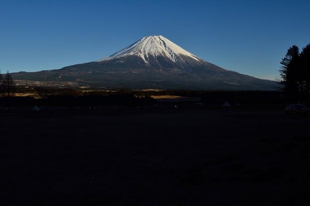 朝霧高原から望む富士山?