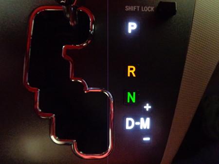 エスティマ LED打ち替え シフト