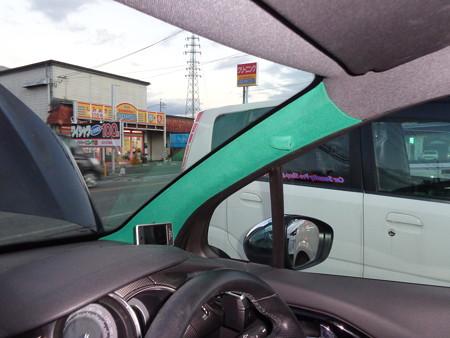 シトロエンDS3 フロッキーコーティング 緑 ピラー