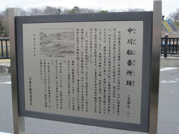 中川船番所跡の説明