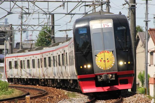 名鉄2200系2209F ポケモン2012 ピカチュウ ザ ムービー号