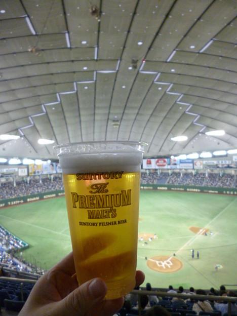 東京ドームで飲んだプレモル