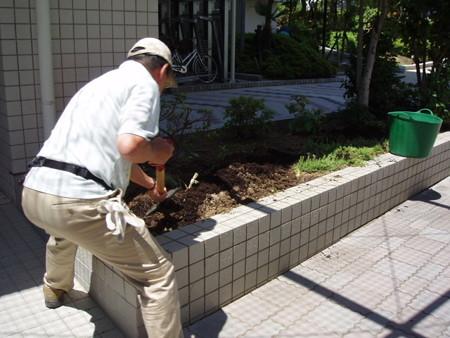 2013年7月20日(土) ガーデニング活動 苗の植え付け