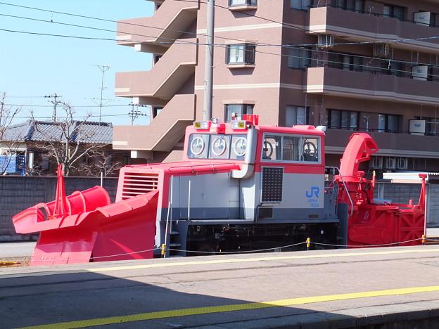 金沢近郊の津幡駅にあったラッセル車