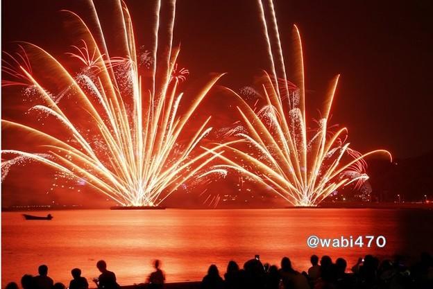 海岸の花火大会、逗子!130601