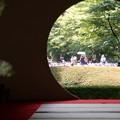 Photos: 丸窓の先は花菖蒲園!130609
