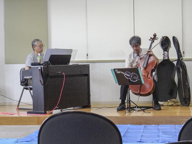 残念ながら今回は電子ピアノでありました@里庄町図書館@岡山県