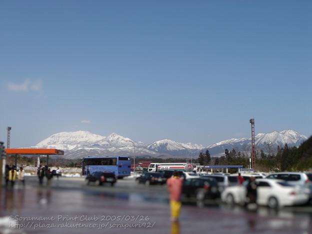 蒜山高原SA下りから見る大山