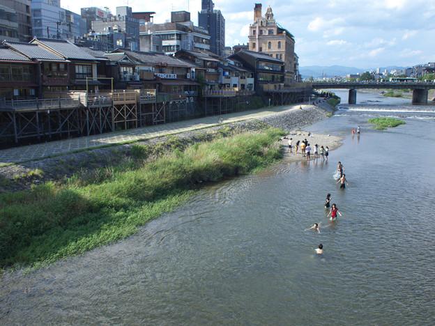 PENな京都 鴨川遊泳場