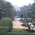 雨の岡山後楽園