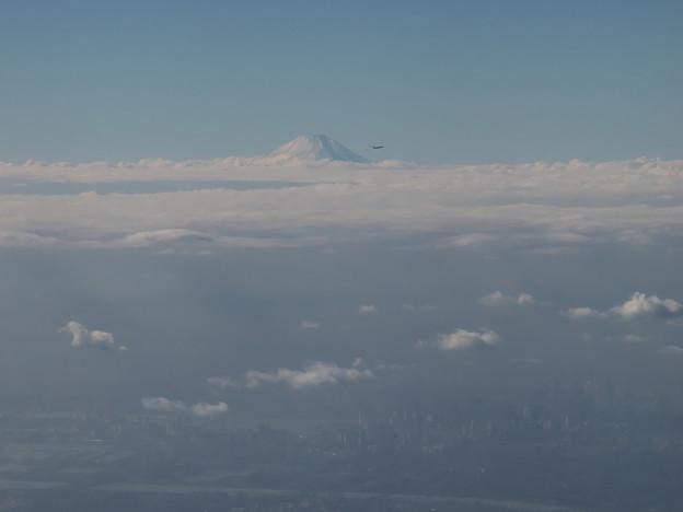 富士と飛行機
