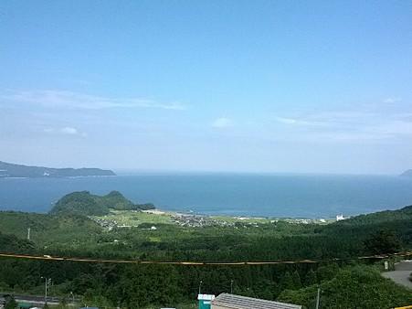 海が見えました。