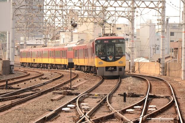 京阪8000系特急出町柳行き8007F