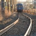去りゆく青い客車