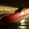 E6系やまびこ 雨の宇都宮駅にてE2系はやて待避