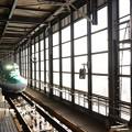上り場内停止、はやぶさ9号入線 信号機に違和感が(^_^;) 盛岡駅にて