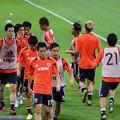 Photos: ダッシュ→歩いて戻るを繰り返す日本代表の皆さん。