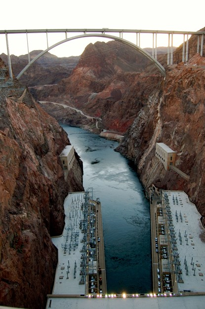 Hoover dam and bridge