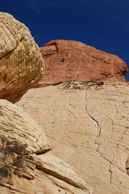Red Rock Canyon climber