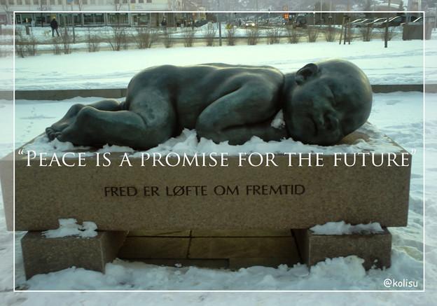 【名句】Peace is a promise for the future|平和は未来への約束